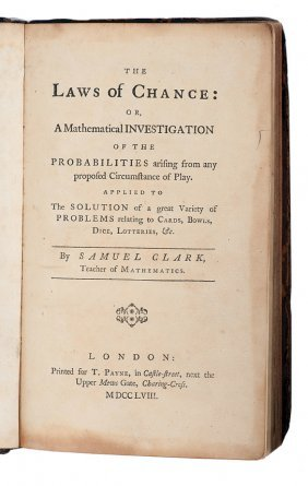 Clark, Samuel. The Laws of Chance, 1758