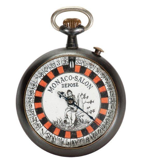 Roulette Gambling Pocket Watch. Monaco-Salon. ca. 1890