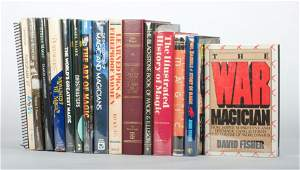 Group of 16 books on magic history