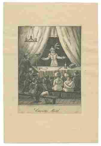 Curious Bird and Conjuror Print. 1800