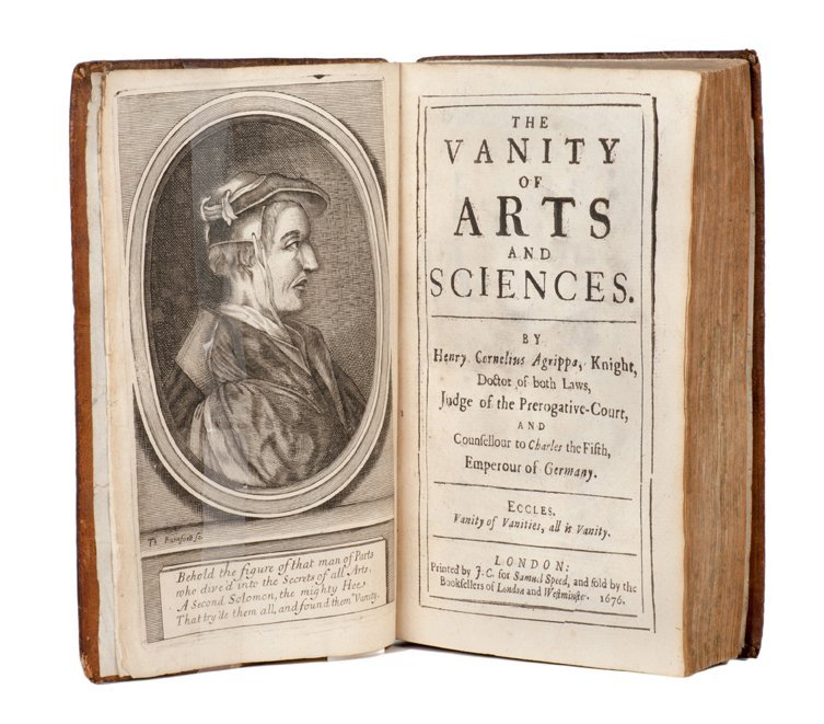 Agrippa. The Vanity of Arts and Sciences. London, 1676