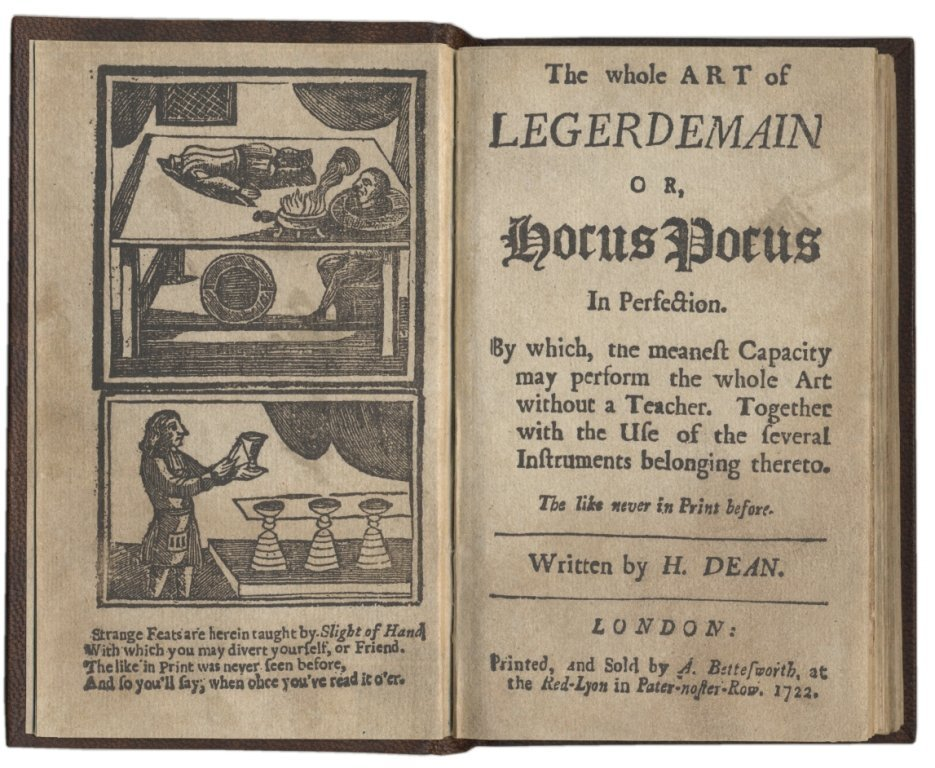 Dean. The Whole Art of Legerdemain. Rare First Edition