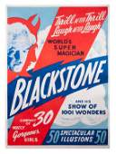 Blackstone. World's Super Magician two-sheet poster.