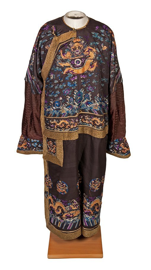 Okito's Stage-Worn Silk Chinese Robe. ca. 1890.
