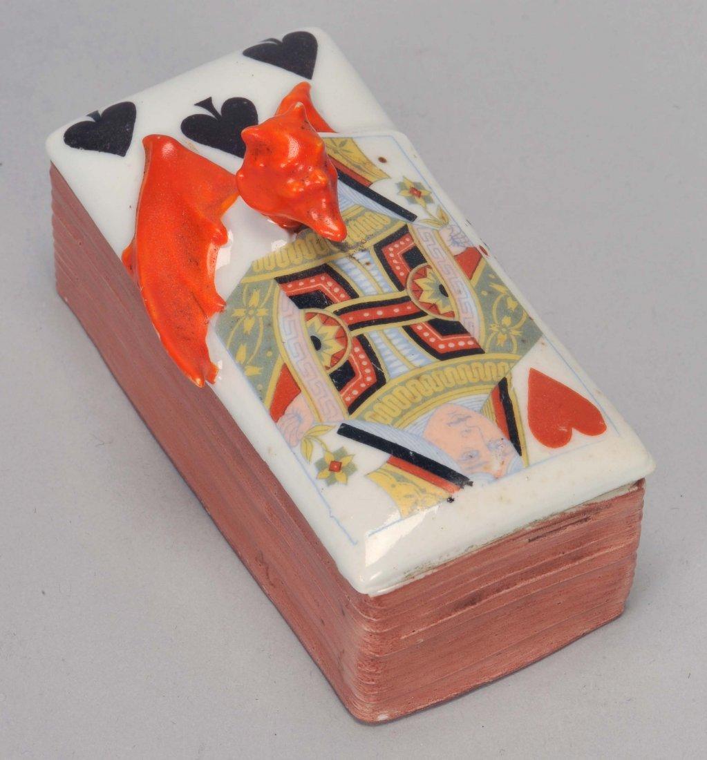 Stamp Box, Devil & Card, Royal Bayreuth. Bayreuth,