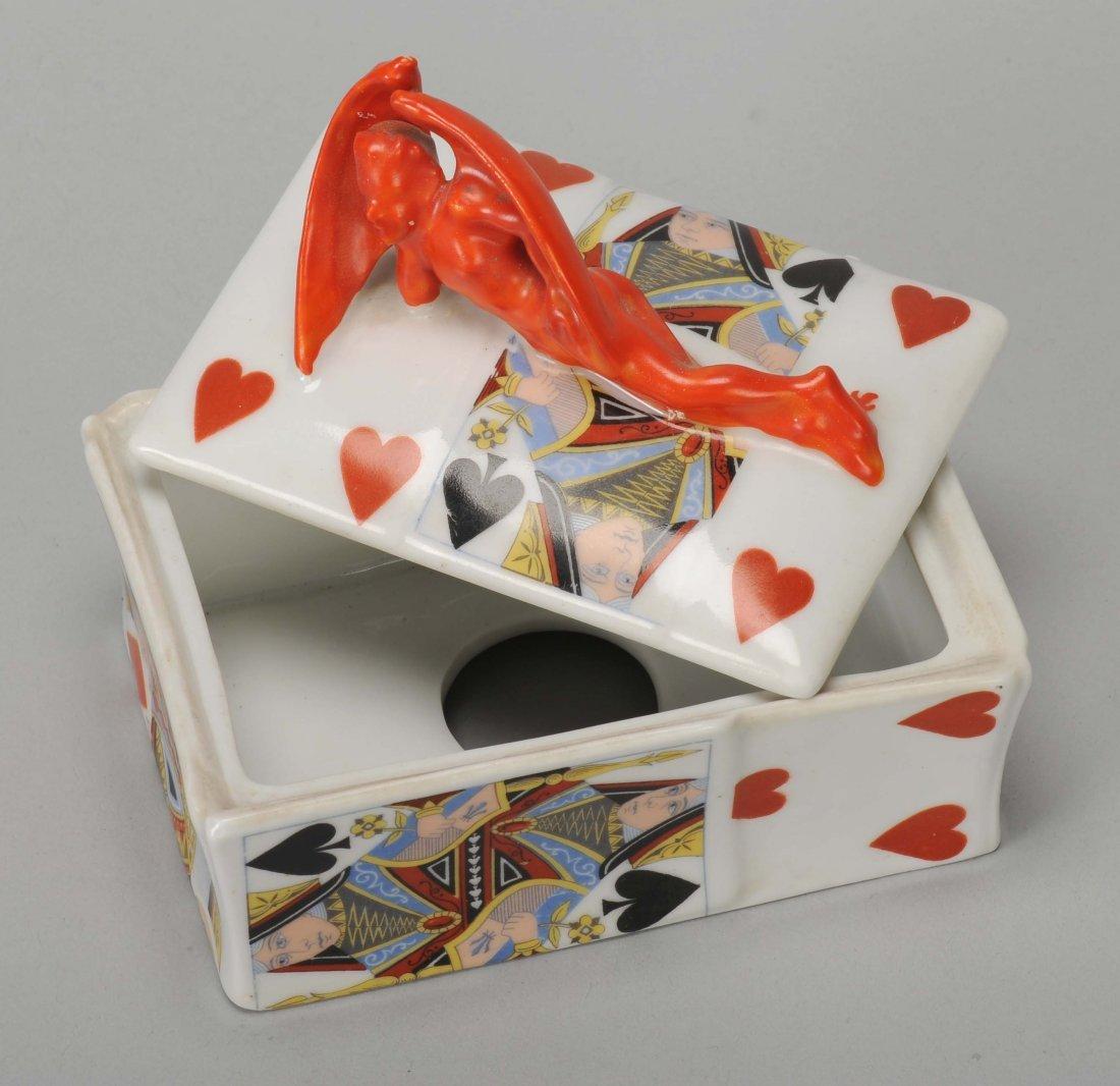 Playing Card Box, Devil & Card, Royal Bayreuth.