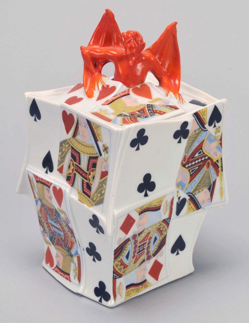 Humidor, Devil & Card, Royal Bayreuth. Bayreuth,
