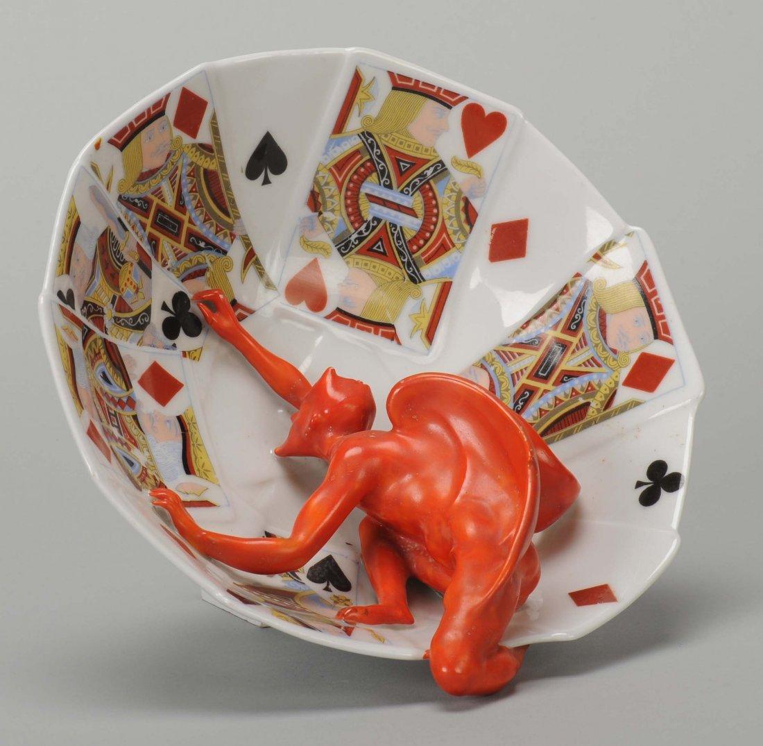 Deep Candy Bowl, Devil & Card, Royal Bayreuth.