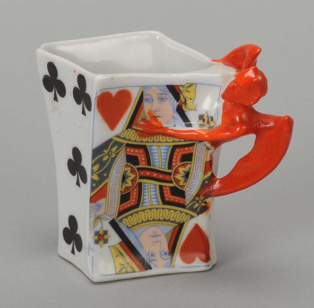 Tooth Pick Holder, Devil & Card, Royal Bayreuth.