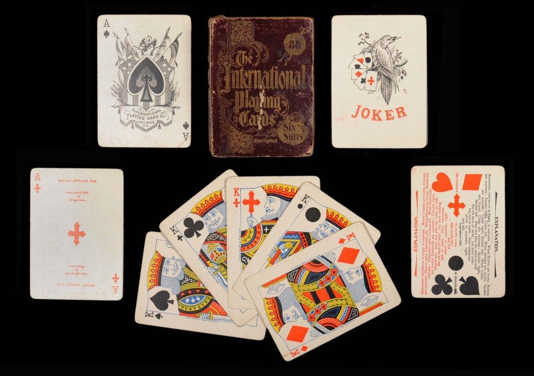 "Hiram Jones ""The International Playing Cards"", 6 Suits."