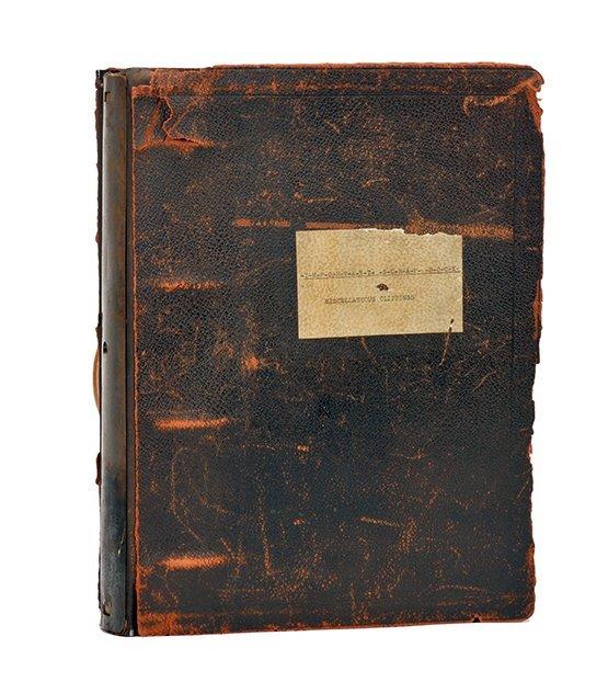 Houdini's large and Important spiritualism scrapbook.