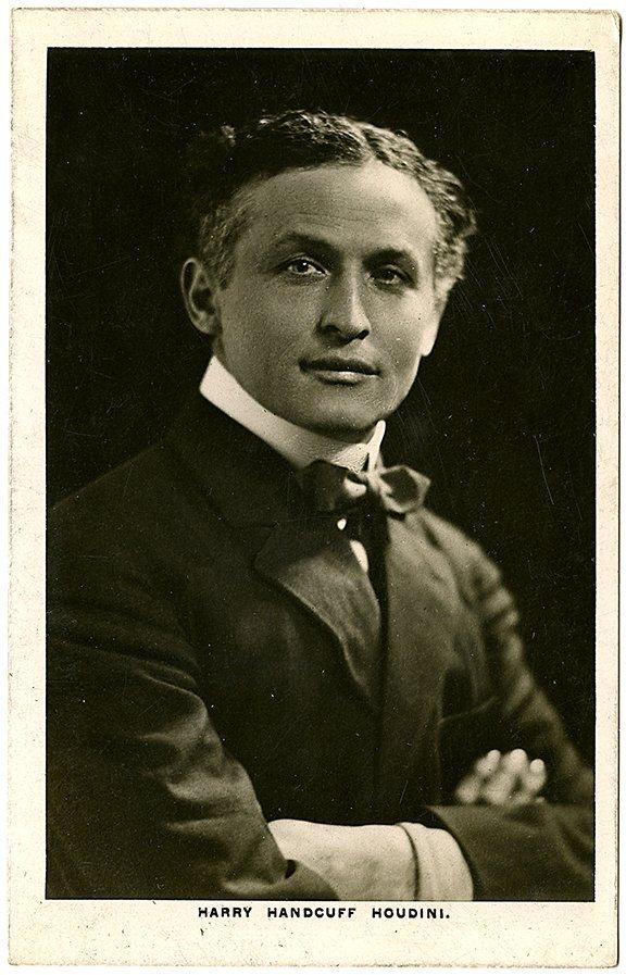 Real photo postcard portrait of Houdini, ca. 1911.
