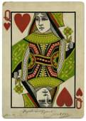 Giant Queen of Hearts inscribed & signed by Joseffy.