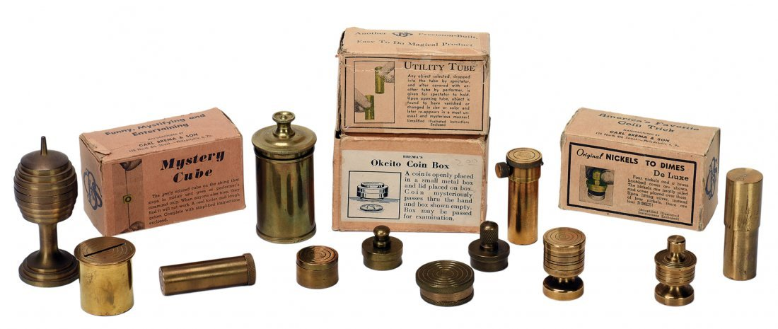 Collection of over 35 Brema-made and brass tricks.