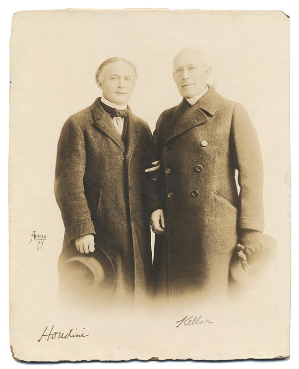 Portrait photograph of Houdini and Kellar.