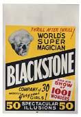 Blackstone World's Super Magician vintage poster