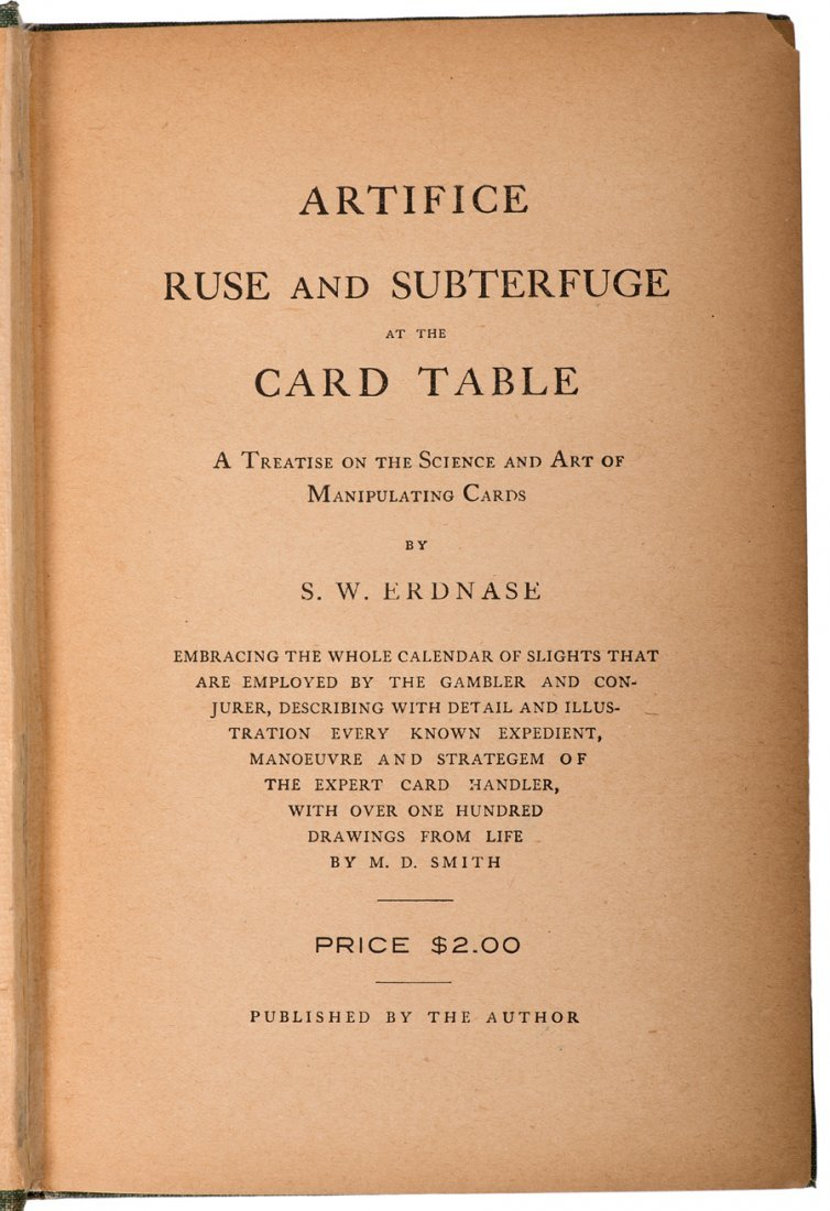 Erdnase, S.W. The Expert at the Card Table. First ed. - 2