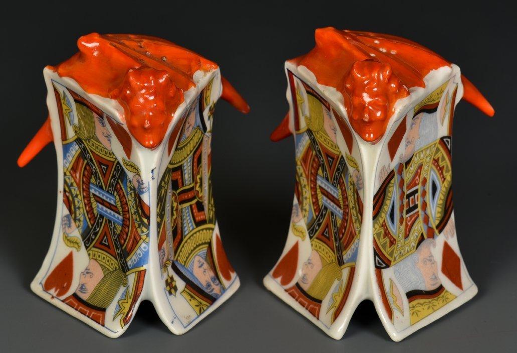 Devil & Card Salt And Pepper Shakers. Bayreuth,