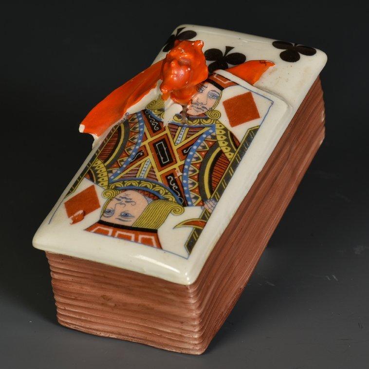 Devil & Card Stamp Box. Bayreuth, Bavaria: Royal