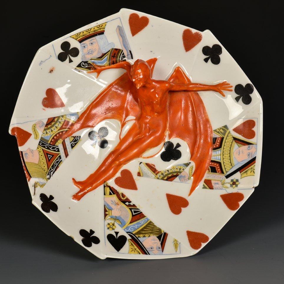 Devil & Card Candy Dish. Bayreuth, Bavaria: Royal