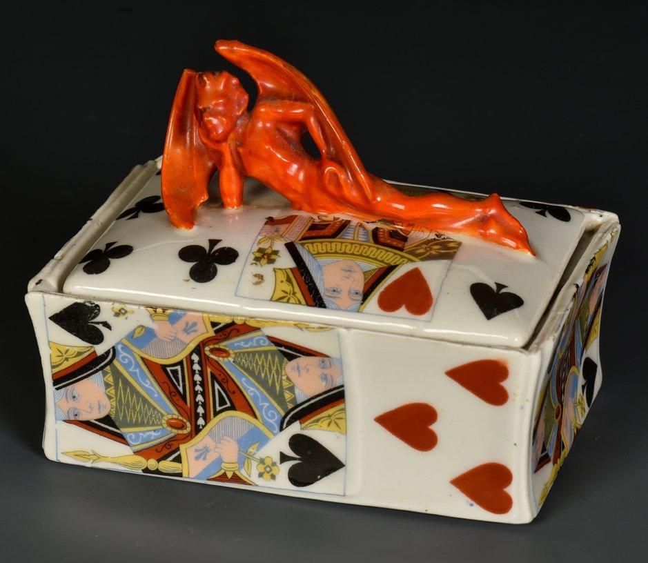 Devil & Card Playing Card Box. Bayreuth, Bavaria: Royal