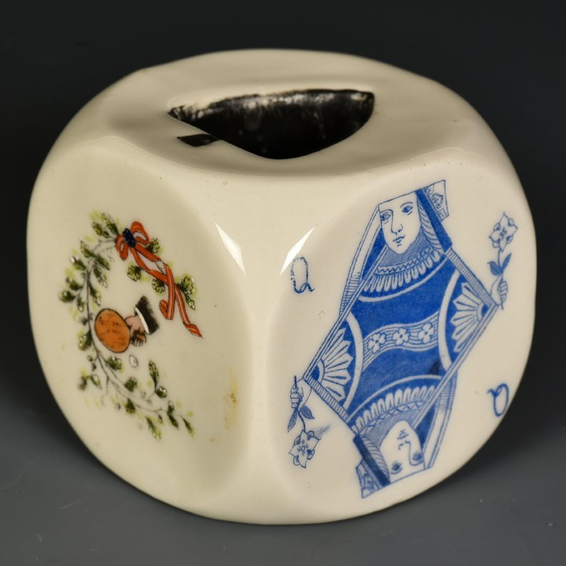 Dice Ashtray with Playing Cards and Table Tennis Paddle