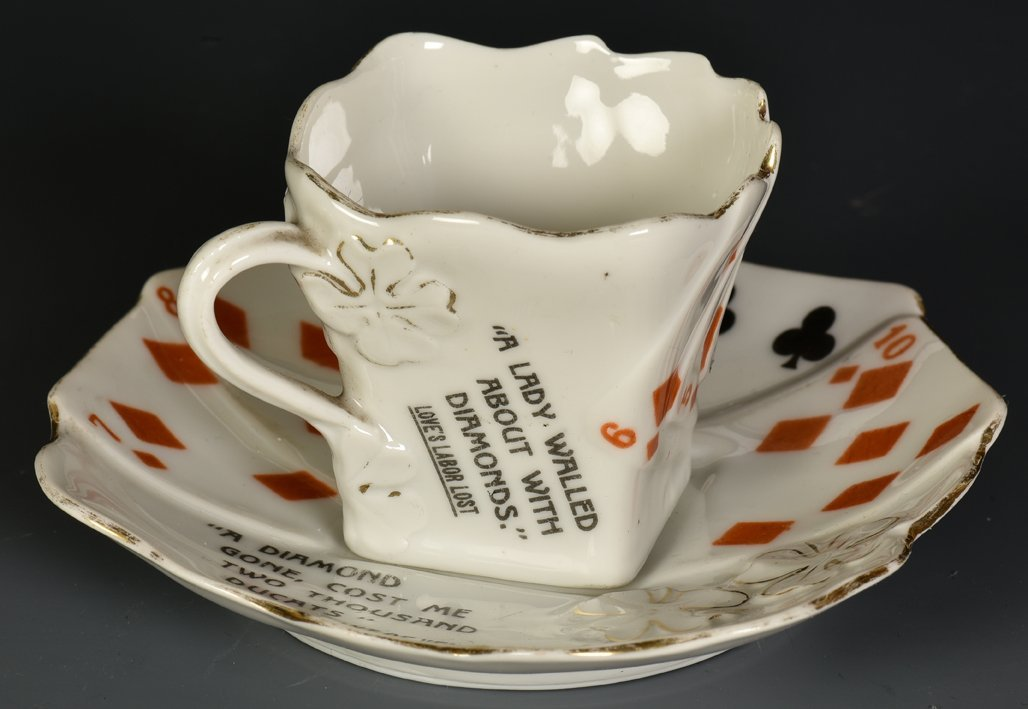 Demitasse Cup And Saucer with Shakespeare Quotes.