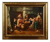Oil Painting Depicting Seventeenth Century Playing Card