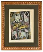 August Louise Woodblock Print of Queen of Spades