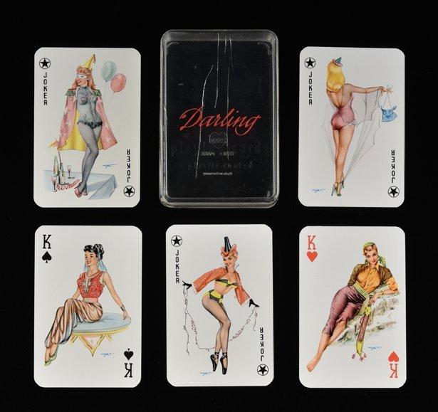 "Joker ""Darling Pin-Up"" Playing Cards. Germany, ca."