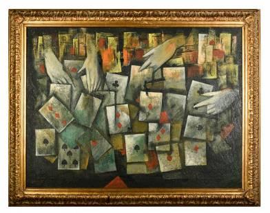 Attributed to Israeli artist Mordecai Ardon (Israeli,