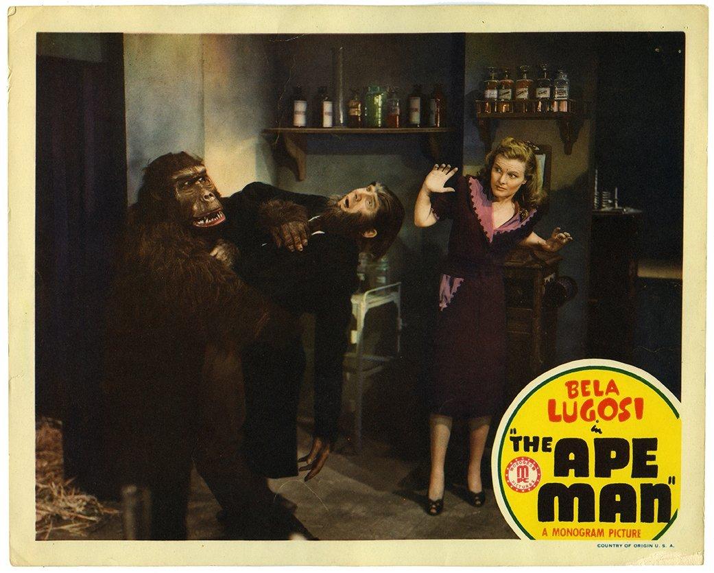 "The Ape Man. Monogram, 1935. Lobby card (11 x 14"")."