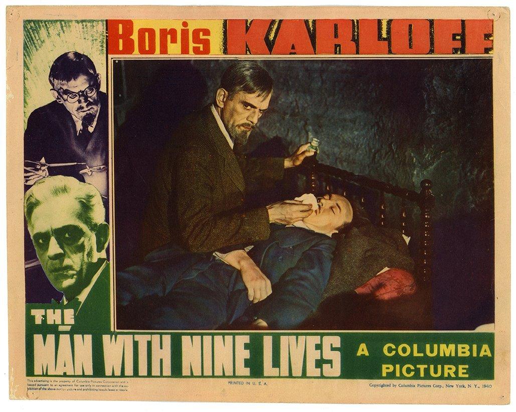 Boris Karloff Lobby Card Collection. Twelve lobby cards