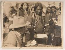 Photo of American Indian Chief and others at 101 Ranch