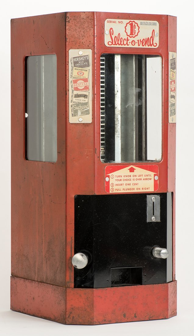 643. One Cent Select-O-Vend Gum and Candy Machine.