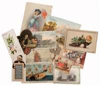 730. Victorian Trade Card and Miscellaneous Ephemera.