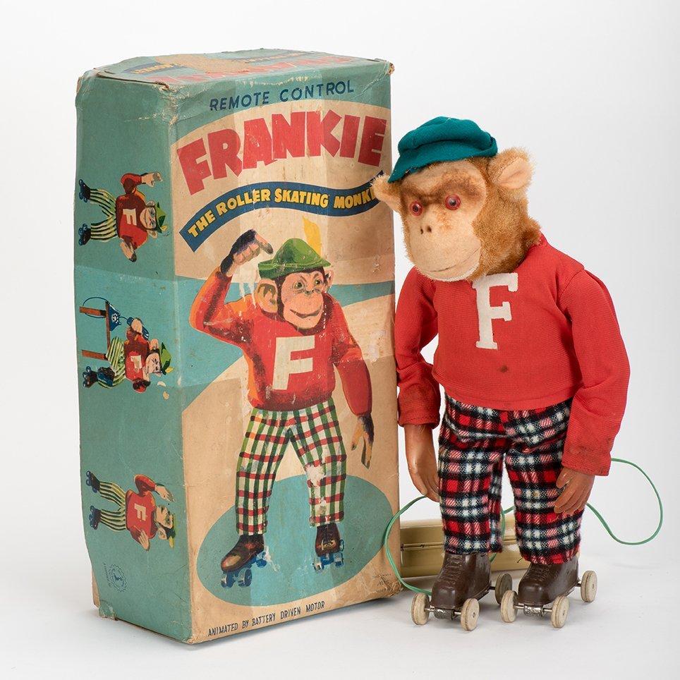 904. Frankie the Roller Skating Monkey Toy. Japan,