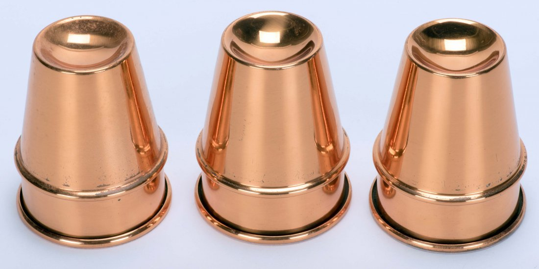 Copper P&L Cups. New Haven: Petrie and Lewis (P&L), ca.