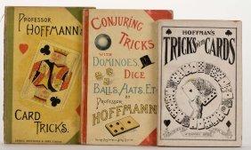 Hoffmann, Professor. Three Vintage Magic Books.