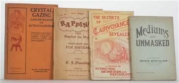 [Spiritualism] Four Antiquarian Books on Mediums,