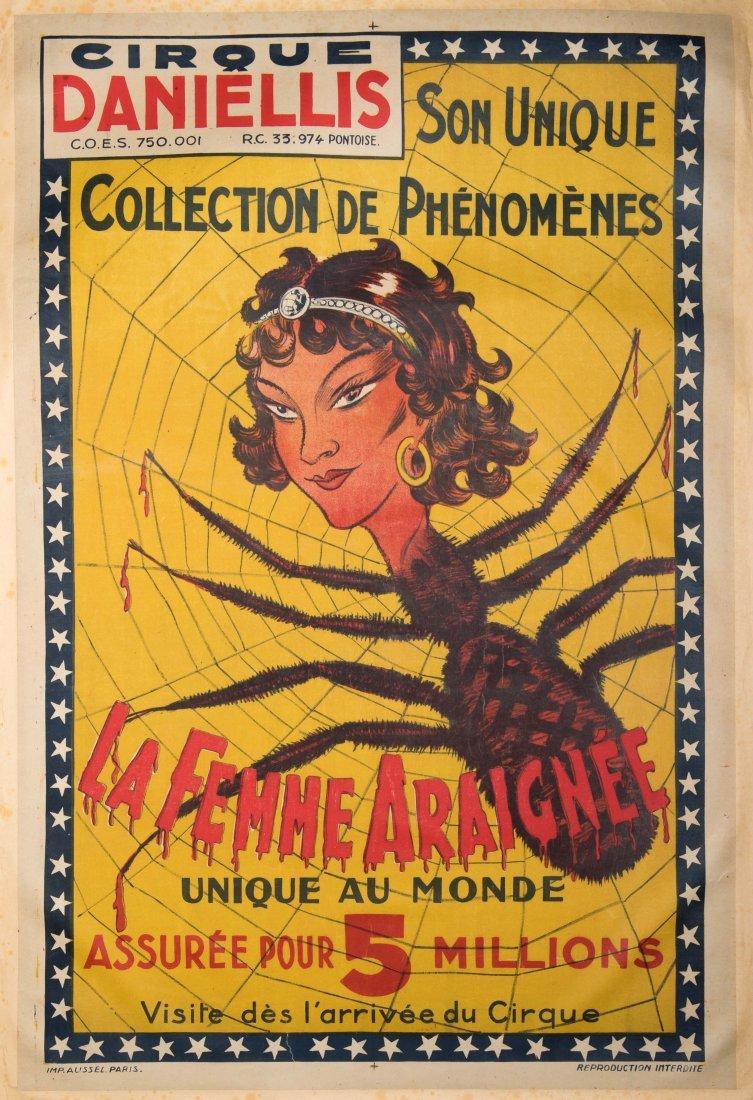 La Femme Araignee. Cirque Daniellis. Paris: Aussel, ca.