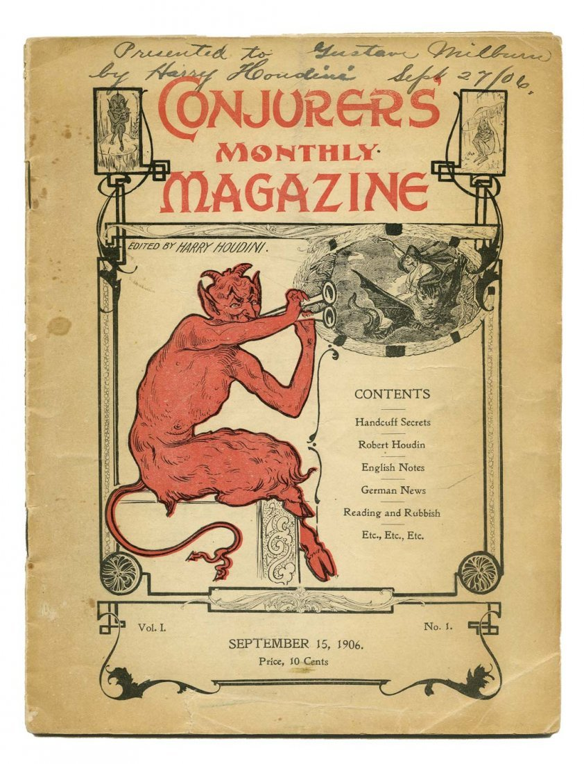Houdini, Harry. Conjurers' Monthly Magazine Premiere
