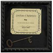 Houdini-Owned Skeleton Key. Attractive and large