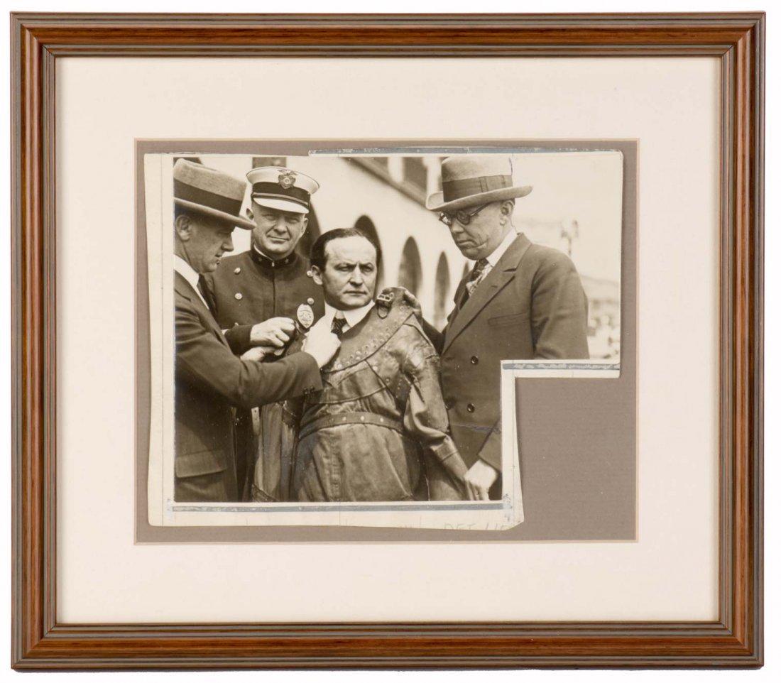 Houdini, Harry. Challenge Photo. Strait Jacket Escape.