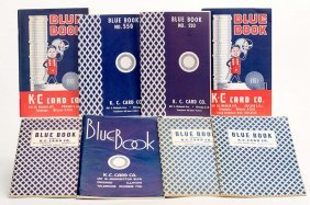 Group Of Eight Different K.c. Card Co. Blue Book
