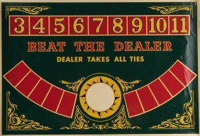 Automated Game Decals. Circa 1950. A Set Of Three
