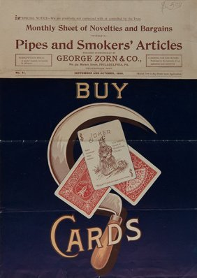 Pipes And Smokers' Articles: Buy Cards. Philadelphia: