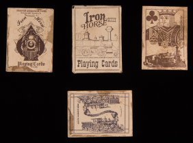 Burnham, Parry, Williams Co. Iron Horse Playing Cards.