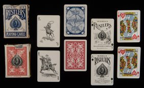 Two Willis W. Russell Decks Of Playing Cards. Including