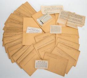 Group Of 77 K.c. Card Co. Instruction Envelopes For Use